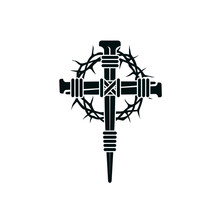 Image Of Jesus Nail Cross With...