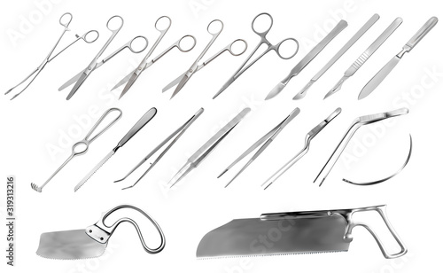 Set of surgical instruments Wallpaper Mural