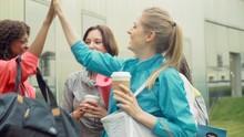 Women Friends Drinking Coffee ...