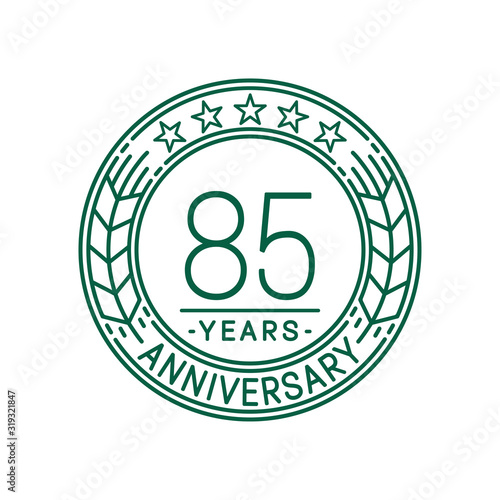 Cuadros en Lienzo 85 years anniversary celebration logo template