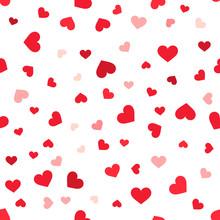 Hearts Confetti Seamless Pattern.