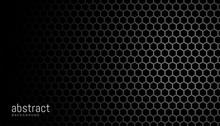 Black Background With Hexagona...