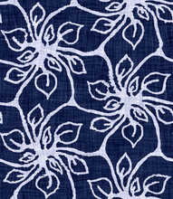 Indigo Blue Batik Damask Dyed ...