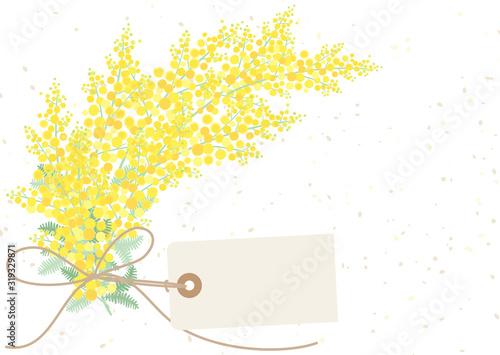ミモザのナチュラルな花束 Fototapete
