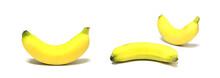 Yellow Banana Curve Isolate On...