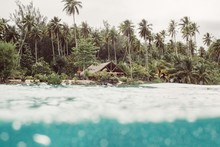 Beach Shack In Tropical Island