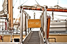 Gangway Leading To A Deck Of A...