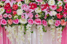 Wedding Flower Backdrop Backgr...