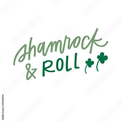 Fototapeta Shamrock and Roll
