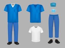 Medical Uniform Scrub Set, Vec...