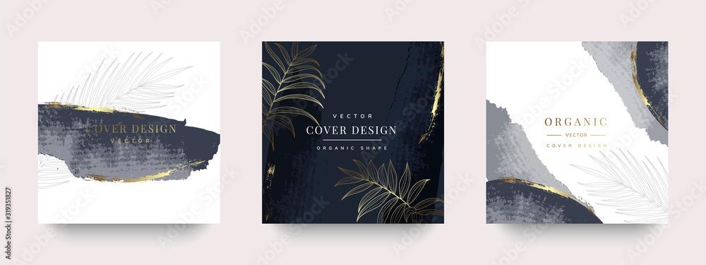 Fototapeta Luxury Social media stories and post template vector set.