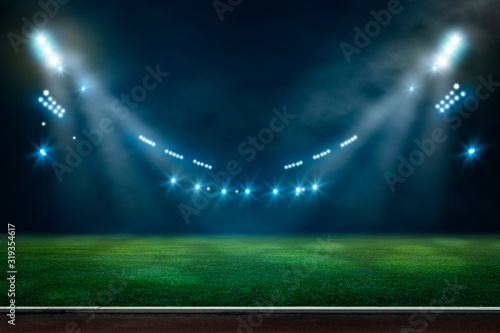Cuadros en Lienzo lights at night and stadium 3D rendering.