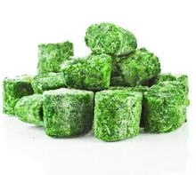 Healthy Vegetarian Frozen Spinach On White Background