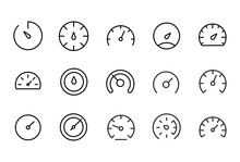 Icon Set Of Speedometer