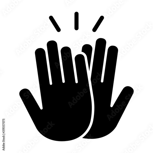 Obraz High five or high 5 hand gesture flat vector icon for apps and websites - fototapety do salonu