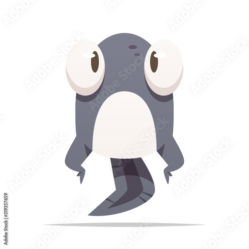 Obraz na plátně Cartoon tadpole vector isolated illustration