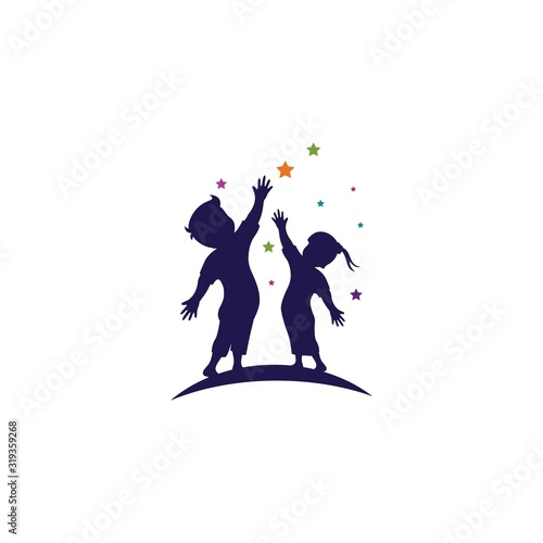 kids concept vector illustration