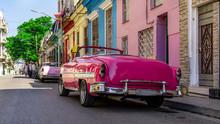 Old Car In Shabby Havana Stree...