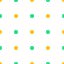Polka Dot Yellow Green Pattern Background
