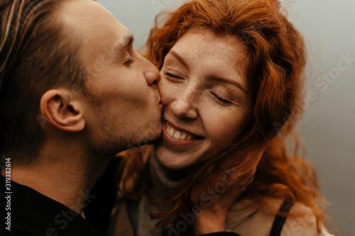 Obraz na plátně Couple in love portrait