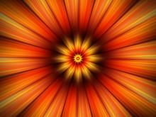 Orange Flower Fractal Closeup ...