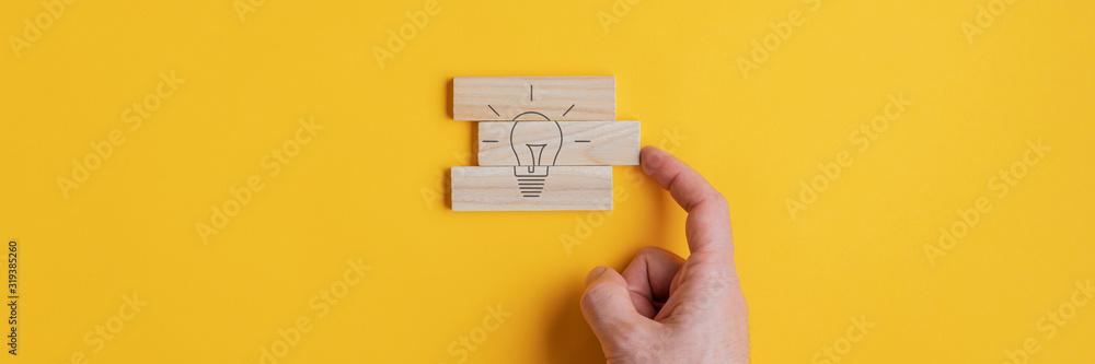 Fototapeta Conceptual image of vision and idea