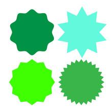 Set Of Multicolor Blank Labels...