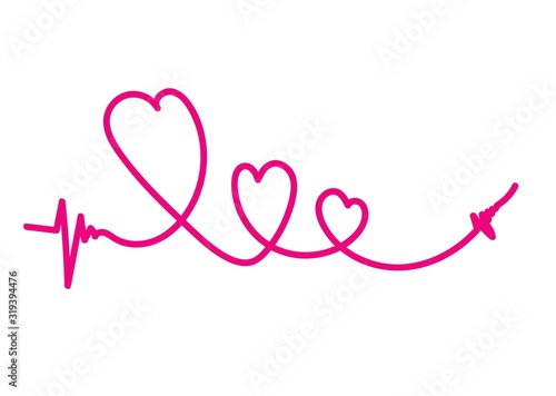 Fototapeta walentynki, wstążka, serce, serca, miłość, uczucia, chłopiec, dziewczynka, kobieta, mężczyzna, pocztówka, rysunek, reklama obraz