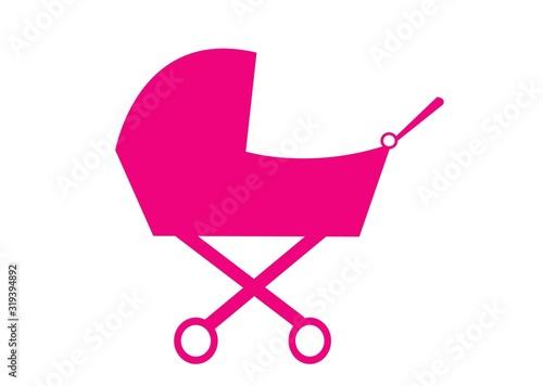 Photo wózek, dziewczynka, matka, rodzina, wychowanie, zabawka, naklejka