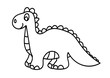 dinozaur, gad, kolorowanka, rysunek, dziecko, zabawka