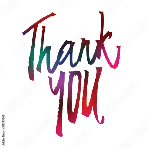 Fototapeta Thank you handlettering and calligraphy