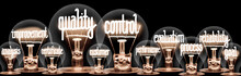 Light Bulbs With Quality Control Concept