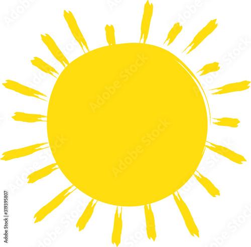 Fototapeta Bright sun is shinning - using the energy of the sun - green energy, solar power, sunshine for renewable energy, photovoltaics obraz