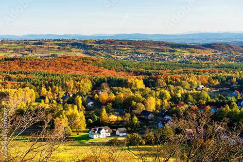 View of a Polish countryside in Jurassic Higland (Jura Krakowsko Czestochowska), Poland