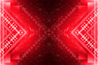 Leinwanddruck Bild - Red abstract background. Neon red light. Lights and light lines.
