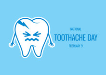 National Toothache Day Vector....
