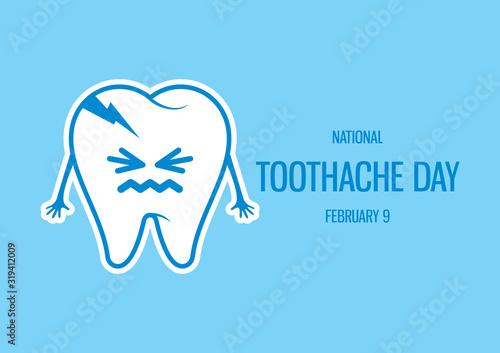 Carta da parati National Toothache Day vector