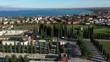 City Desenzano del Garda Lake Garda. Aerial view of Cemetery in Desenzano