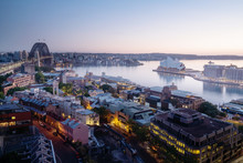 Sunrise, Aerial View Of Sydney...