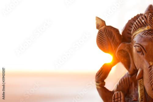 Photo Wooden ganesha figurine