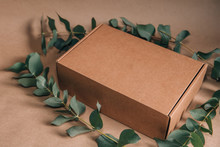 Closed Carton Box With Flowers...