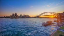 Sunset At Sydney Harbour Bridge