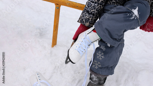 Photo snow sport background skates and ice