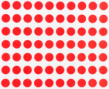 Red Dot Pattern, Abstract Red And White Background