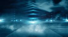 Futuristic Empty Night Scene W...
