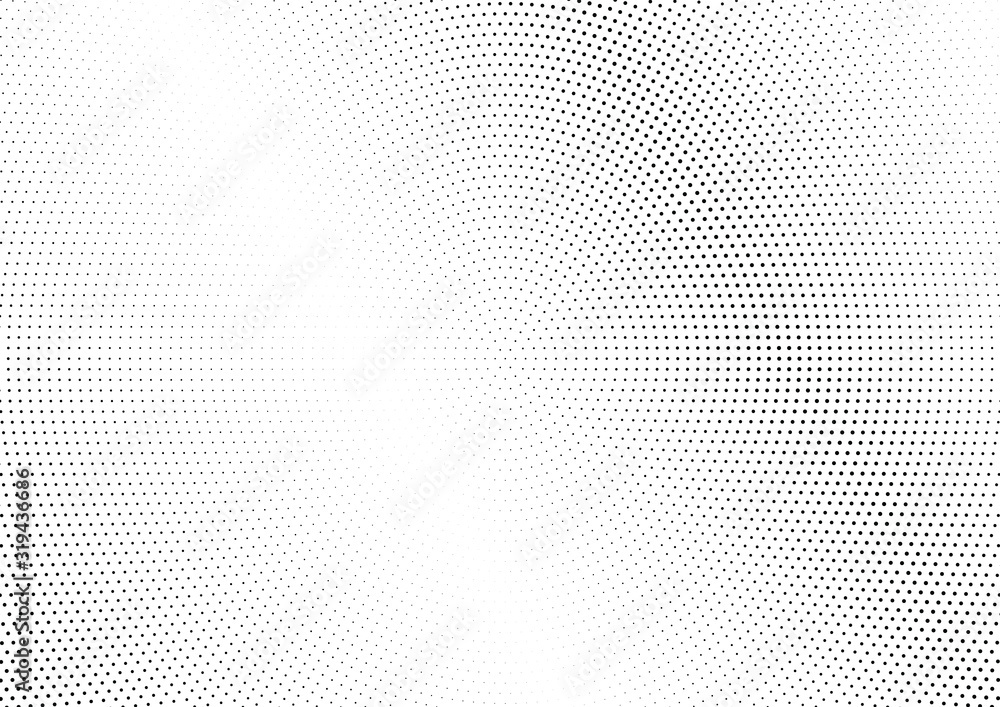 Fototapeta Abstract halftone dotted background. Futuristic grunge pattern, dot and circles.  Vector modern optical pop art texture for posters, sites, business cards, cover, postcards, labels, stickers layout.