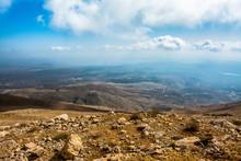 Aussicht Auf Den Golanhöhen, Mount Hermon In Israel