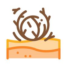 Tumbleweed Icon Vector. Outline Tumbleweed Sign. Isolated Contour Symbol Illustration