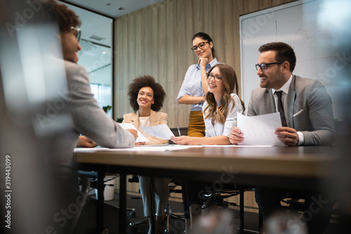 Obraz Meeting Corporate Success Business Brainstorming Teamwork Concept - fototapety do salonu