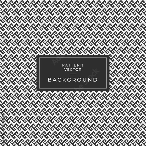 Vector seamless pattern. Modern stylish texture. Repeating Greek pattern. Monochrome swatch with meander. Fototapete